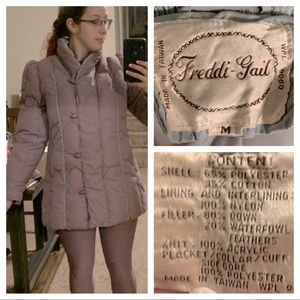 Vintage lilac puffer coat